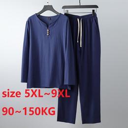 Wholesale traditional chinese men s suits for sale - Group buy Suit Plus Size XL XL KG Men Suit Traditional Chinese Clothing For Men Pants Set Mens Top Cheap Clothes