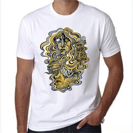 $enCountryForm.capitalKeyWord Australia - Psychedelic t shirt Skull hair short sleeve tees Unique design tops Fadeless print clothing Pure color colorfast modal tshirt