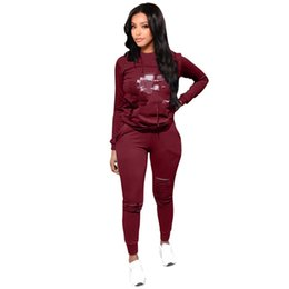 yoga clothes brands Australia - Champions Brand Designer Sport Tracksuit Pullover Hoodie Pants 2pc Set Outfit Hollow Out C letters Solid Color Sweat Suit Sweatsuits Clothes