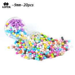 For Toddlers Australia - Wholesale 20pcs Baby Teethers Silicone Beads 9mm Toddlers Toys Teething Beads Silicone BPA Free For Necklaces Pacifier Holder