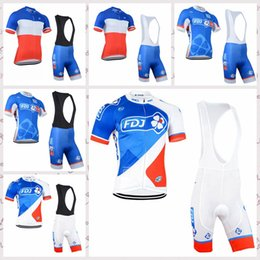 fdj team bike Australia - FDJ team Short Sleeve Cycling Jersey Bib shorts Sets Mountain Bike Clothes Breathable Quick Dry sportwear A61101