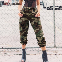 harem sweatpants for hip hop NZ - Heyoungirl Camo Pants For Women Camouflage Casual Trousers Harem Pants Winter High Waist Hip Hop Sweatpants Green Pantalon Mujer Y19071801