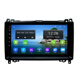 gps mercedes free NZ - Android 4G LTE HD 1080P car MP3 MP4 Music front camera free map HD1080 GPS navigation radio music player for Mercedes Benz B200 9inch