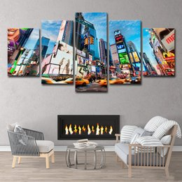 $enCountryForm.capitalKeyWord Australia - 5 Piece HD Printed New York City Oil Painting on Canvas Room Decoration Print Poster Picture Canvas Free Shipping