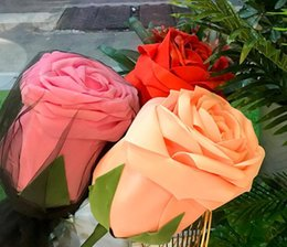 Discount one piece displays - Huge Rose PE Artificial Rose One Piece 70 cm Surprise Gift Creative Romantic Valentines Gift for Girlfriend