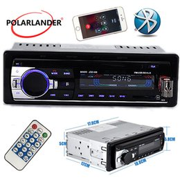 Radio electRonic music online shopping - best selling Din one single Car Radio Stereo FM MP3 Player USB SD AUXin Car Electronics bluetooth handsfree music audio auto