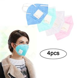 $enCountryForm.capitalKeyWord NZ - Mnycxen 4pcs Pm2.5 Air Filter Dustproof Mouth Mask Activated Carbon Cloth Respirator Filter Sport Mouth Muffle Anti Haze 010