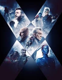 x art hot NZ - X-Men Days of Future Past Movie Hugh Jackman, Lawrence Art silk furniture bar family wall decoration hot sale popular poster 56
