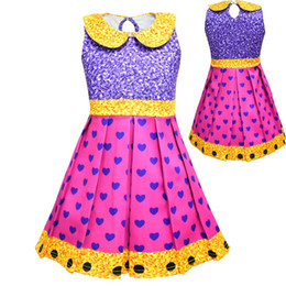 Down shows online shopping - Girls Surprise Princess Dress Stage Show Cosplay Costume Birthday Party Gifts Children Cartoon Sleeveless Summer Dresses Kids Dance Clothes