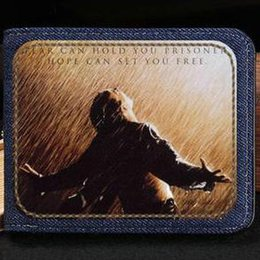 $enCountryForm.capitalKeyWord Australia - The Shawshank Redemption wallet Tim Robbins purse Film short cash note case Money notecase Leather jean burse bag Card holders