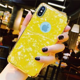 $enCountryForm.capitalKeyWord NZ - Cool Sea Shell Design Dropproof TPU Soft Cover Skin Back Glossy Electroplate Phone Case cover For IPhone X XS XR XS MAX 6 7 8 plus