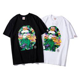 $enCountryForm.capitalKeyWord Australia - 19ss luxurious brand design BAPi+MAR joint name Series Hulk Print Short Sleeve T-shirt Men Women Breathable Fashion Streetwear Outdoor