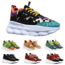 $enCountryForm.capitalKeyWord Australia - Hot sale 2019 Chain Reaction Fashion Mens Womens Designer Casual Shoes Luxury Link-Embossed Ladies Designer Trainers Sneakers 36-45