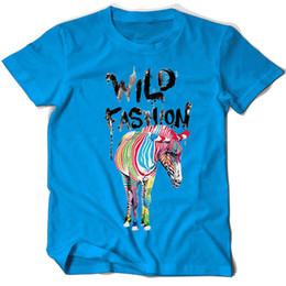 $enCountryForm.capitalKeyWord NZ - Zebra t shirt Wild fashion short sleeve tops Stripe animal fadeless tees Unisex white colorfast clothing Pure color modal Tshirt