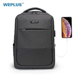 Navy Style Backpack Australia - Backpack 15.6 Inch Laptop Usb Charging Casual Style Waterproof Bag Men's Women's Anti Thief Multifunction Weplus Female Backbag Y19061004