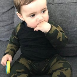 military camouflage clothing NZ - New born baby girl clothes set Camouflage T-shirt Tops+Pants Outfits 2pcs Set winter baby clothing conjunto infantil