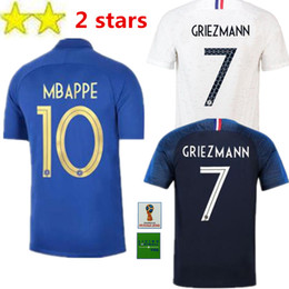 eeaf51ba762 2 Stars GRIEZMANN MBAPPE POGBA soccer jerseys 2019 shirts MATUIDI KANTE  Special Edition 1919 2019 Centenary Maillot Goalkeeper France
