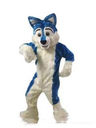 $enCountryForm.capitalKeyWord UK - Professional custom Blue Husky Dog Mascot Costume Cartoon Wolf dog Character Clothes Christmas Halloween Party Fancy Dress