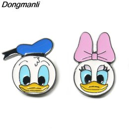 Duck pins online shopping - P3961 Funny Jewelry Cute Duck Metal Enamel Pins and Brooches Lapel Hat Pin Badge Kids Gifts Hat Accessories