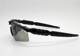 Großhandel Wholesale-2019 2.0 3 Objektiv Camouflage Radfahren Shooting Glasses UV400 Tactical Sonnenbrille Men Army BALLISTIC kugelsichere Brille