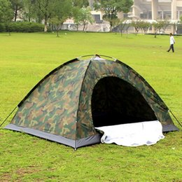 $enCountryForm.capitalKeyWord Australia - Portable Outdoor Camping Double Persons Tent Waterproof Dirt-proof Camouflage Folding Tent for Travelling Hiking
