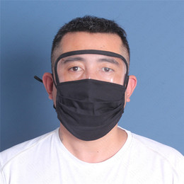 Wholesale 7 color Washable Face Mask with pm2.5 filter Slot clear plastic Face Shield eye cover Unisex Reusable Breathable Cycling Cover Protector6809