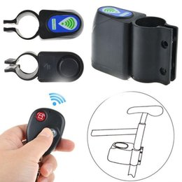 wireless bicycle UK - Remote Control Bike Alarm Lock Wireless Security System Anti-Theft Bicycle Lock Cycling Padlock anti-theft device Accessories