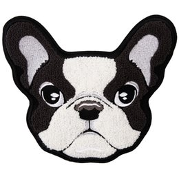 Towels For Dogs Australia - embroidery chenille dogs patches for jackets,embroidered towel animals badges appliques for jeans,patches for clothing