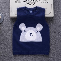 $enCountryForm.capitalKeyWord NZ - Bear Pattern Children Clothing Winter Boys Girls Knitted Sweater Kids Spring Fall Cotton Outer Wear Pullover
