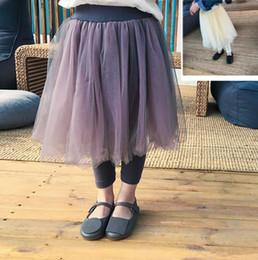 Discount kids match tutu skirt - Children lace tulle skirt pants girls princess skirt legging 2019 spring new kids all-match bottom pantskirt girls party