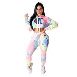 Discount sports shirts long sleeve - Champion womens designer tracksuit long sleeve outfits shirt pants two piece set sportswear hoodie leggings sport set sh