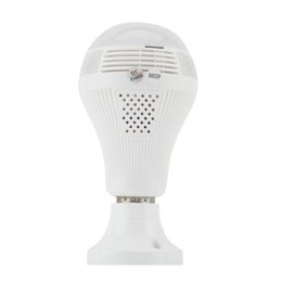 Chinese  360 Degree LED Light 960P Wireless Panoramic Home Security Security WiFi CCTV Fisheye Bulb Lamp IP Camera Two Ways Audio manufacturers