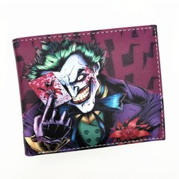 Wholesale bat man movies for sale – halloween Wallet Comics Movies Suicide Squad The Joker Harley Quinn Enchantress And Bat Man Short Wallets With Card Purse