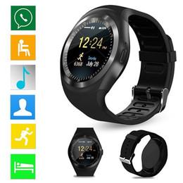 Опт Круглый сенсорный экран Bluetooth Smart Watch с шагомером Монитор сна Удаленная синхронизация для смартфонов Android Y1