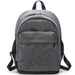 $enCountryForm.capitalKeyWord UK - 2018 Women Waterproof Canvas Backpacks Ladies Shoulder Bag Rucksack School Bags For Girls Travel Gray Blue Laptop Bags Red Black J190525