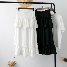 $enCountryForm.capitalKeyWord Australia - Spring And Summer Long Fairy High Waist A-shaped Irregular Chiffon Half-length Skirt Female Fashion Popular Trend Style High Quality jooyoo