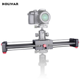 """Pro Dslr Camera NZ - Freeshipping Pro 19"""" 50cm Compact DSLR Camera Video Slider with Double Travel Distance Shoot Video Camera Track Dolly Rail Slider"""