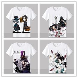 Cartoon Butler Australia - Anime Black Butler T Shirt men Short Sleeve Cartoon Sebastian Michaelis T-Shirt Cosplay Costume Clothing Free Shipping