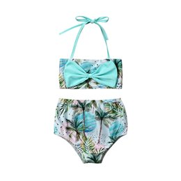 $enCountryForm.capitalKeyWord NZ - Summer Swimwear For Girls Halter Tops Shorts Bikini Set Swimsuit Outfit Cute Girls Clothing Set Kids Swimsuit Children Beachwear