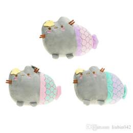 $enCountryForm.capitalKeyWord Australia - 20170603 Cute Cat Plush Toy Animal Smile Fat Cat Mini Mermaid Stuffed0 Plush Doll Free Shipping