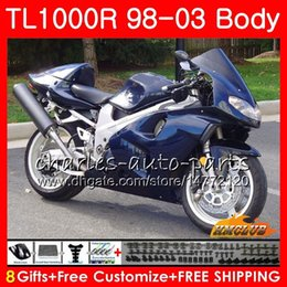 srad fairing yellow NZ - Body For SUZUKI SRAD TL1000R dark blue new 1998 1999 2000 2001 2002 2003 19HC.86 TL1000 R TL 1000 R TL 1000R 98 99 00 01 02 03 Fairings Kit