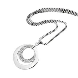 $enCountryForm.capitalKeyWord Australia - Hot Selling Long Chain Women Necklace Fashion Crystal Rhinestone Silver Plated Pendant Necklace Gift Jewelry Accessories Torque Choker