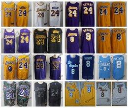 SleeveleSS camo ShirtS online shopping - 2019 Los Angeles Kobe Bryant Laker City Kobe Camo Edition Basketball Jerseys Mens Yellow Kobe Bryant Vintage LA Stitched Shirts S XXL
