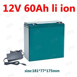 li ion pack 12v Australia - 12V lithium ion battery pack 12V 60AH li ion bateria 18650 with BMS 3S for searchlight Trolling Inverter camping + 5A charger