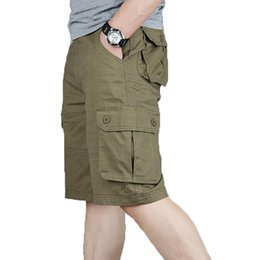 44 cargo shorts UK - Cargo Shorts Men Summer Fashion Army Tactical Homme Shorts Casual Multi-Pocket Male Baggy Trousers Plus Size 42 44 46