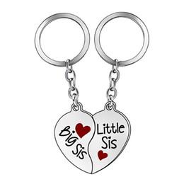 $enCountryForm.capitalKeyWord Australia - 2Pcs Set Creative Heart Matching Key Ring Keychain Best Sister Jewelry Gift New