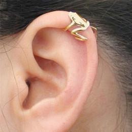 $enCountryForm.capitalKeyWord Australia - 2018 1 Pc Fashion Women Men Punk Gothic Jewelry Gift Frog Cuff Ear Clip Ear Wrap Earring