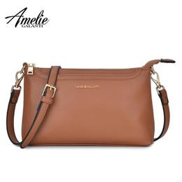 $enCountryForm.capitalKeyWord Australia - Amelie Galanti Luxury Leather Womens Bags Mini Crossbody Bags For Woman Handbag Cellphone Soft Solid Lady Bag Zipper Pockets Y19061903