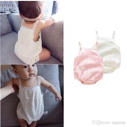 $enCountryForm.capitalKeyWord NZ - INS New Summer INS Infant Baby Girls Lace Rompers Sleeveless Cotton Breathable Toddler Princess Newborn Jumpsuits Onesie 0-2T