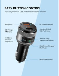 transmitter for sale NZ - Hot sale USB Car Charger Bluetooth FM Transmitter QC Quick 3.0 Charge Fast Charger for Xiaomi Samsung iPhone Huawei QC3.0 Charger